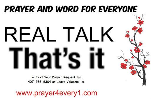 REAL TALK - Thursday 💯!