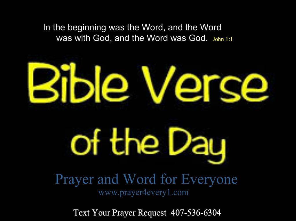 WORD – Monday Bible Verse📖