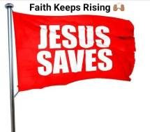 57939677-jesus-saves-3d-rendering-a-red-waving-flag